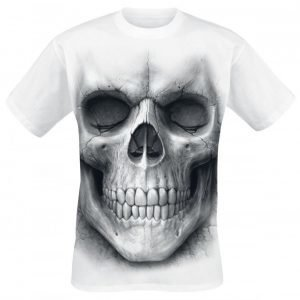 Spiral Solemn Skull T-paita