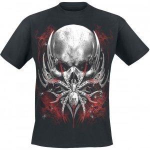 Spiral Spider Skull T-paita