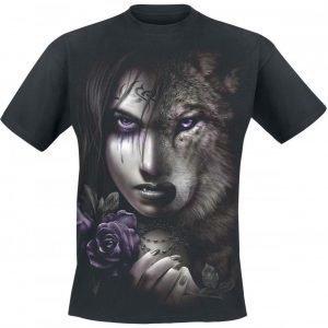 Spiral Wolf Soul T-paita