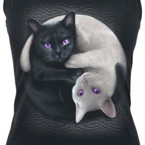 Spiral Yin Yang Cats Naisten Toppi