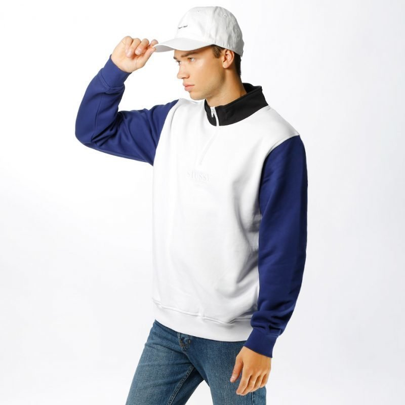 Stüssy Half Zip Mock -college