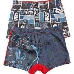 Star Wars Bokserit 2-Pakkaus Harmaa Kuvioitu