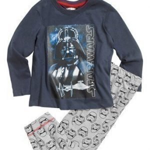 Star Wars Pyjama Siniharmaa Mel. vaaleanharmaa