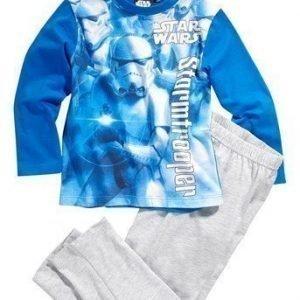 Star Wars Pyjama Sininen Mel. harmaa