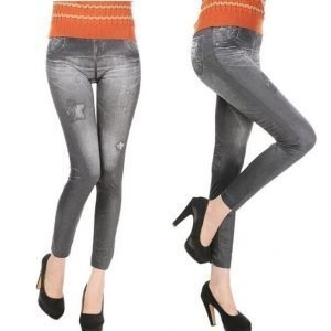 Star black jeans print leggings tighs jeggings