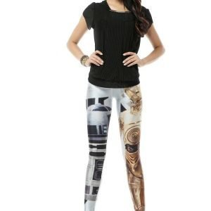 Starwars R2D2 and C3P0 Leggings Tights