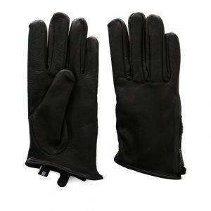 State Of Wow Cassie Zip Leather Glove Nahkahanskat Musta