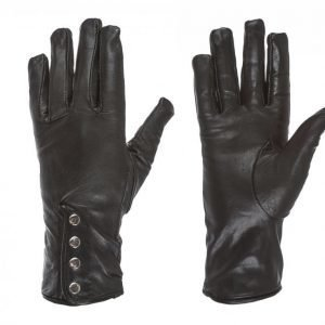 State Of Wow Janet Leather Gloves Hanskat Musta