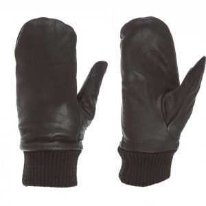 State Of Wow Lukas Leather Mitten Hanskat Musta