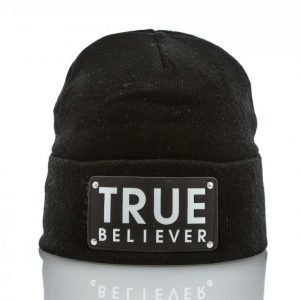 State Of Wow True Fold Beanie Pipo Musta