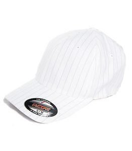State of WOW PINSTRIPE Flexfit Cap White