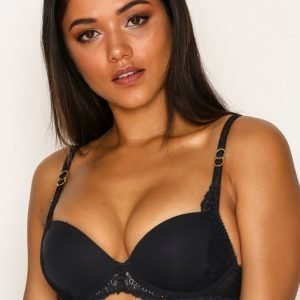 Stella Mccartney Lingerie Smooth And Lace Contour Bra Rintaliivit Night Sky