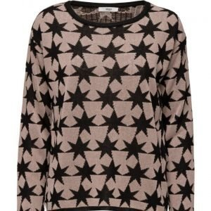Stig P Migs Long Sleeve Knit With Star Intarsia neulepusero