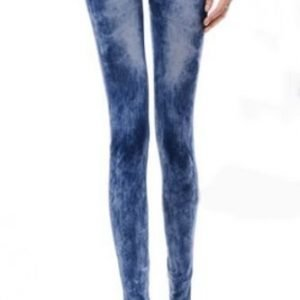 Stonewashed Look Jeans Print Leggings Tights Jeggings