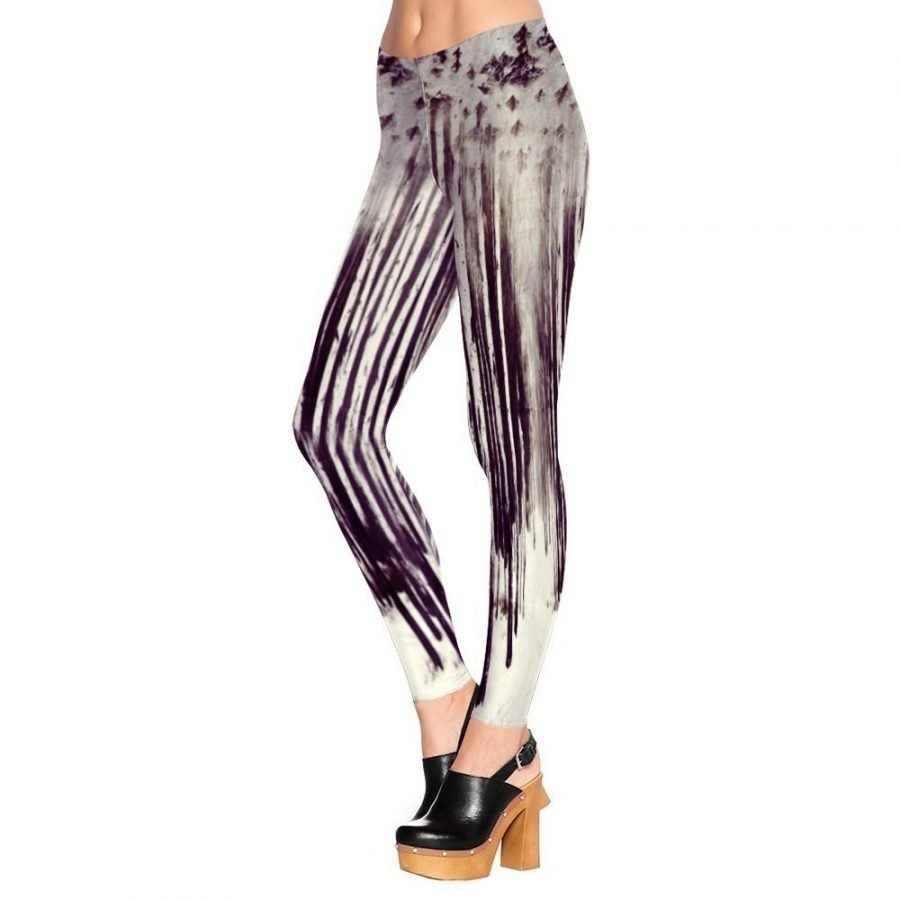 Striped Black and white Leggings Tights