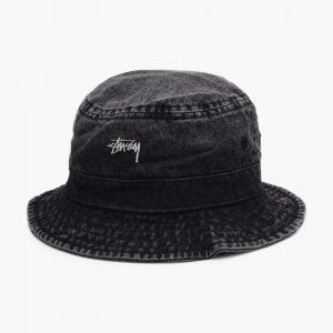 Stussy Washed Denim Bucket Hat