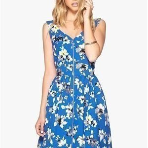 Style London Floral Zip Front Dress Blue