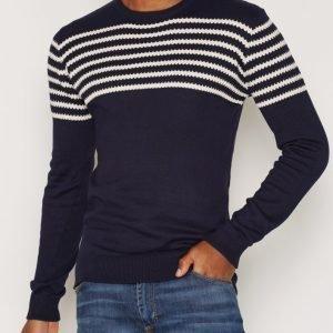 Suit Oscar-Stripe K-Blouse LS Pusero Offwhite/Navy