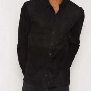 Suit Redford-Suede Shirt LS Kauluspaita Black