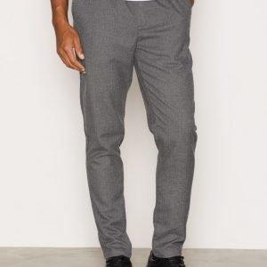 Suit Saxo Pants Long Housut Grey Melange