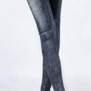 Summer look black jeans print leggings tights jeggings