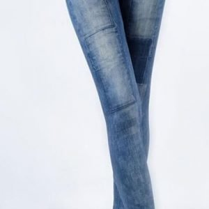 Summer look blue jeans print leggings tights jeggings
