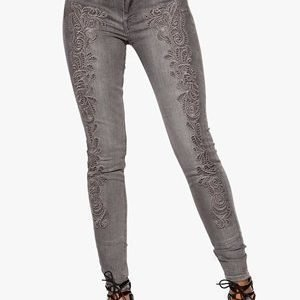 SuperTrash Paradise Crochet Jeans 050 Grey