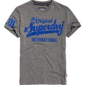 Superdry 100 Club T-paita Vaaleanharmaa