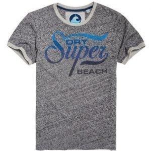Superdry 77 Swim Ringer T-paita Harmaa