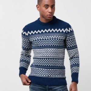 Superdry All Over Chevron Crew Blue