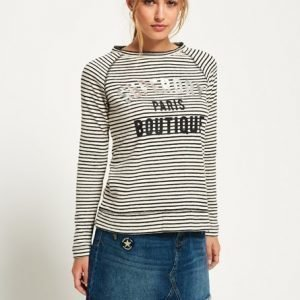 Superdry Amour Stripe Graphic Toppi Musta