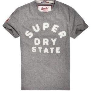 Superdry Applikoitu Core T-paita Harmaa