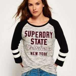Superdry Applikoitu Football Pusero Harmaa