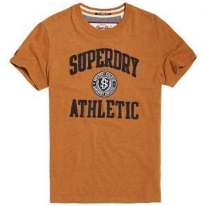 Superdry Applikoitu T-paita Keltainen