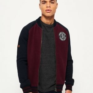 Superdry Applique Collegepilottitakki Purppura