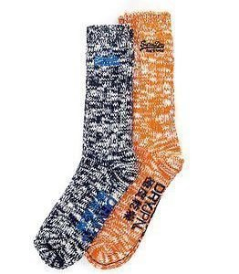Superdry Big S Dry HGiker Sock 2-pack Orange/Navy