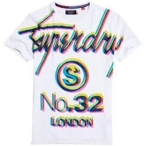 Superdry Big S Trippy T-paita Valkoinen