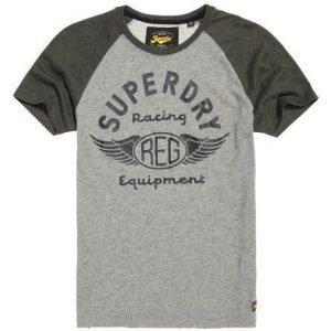 Superdry Biker Raglan T-paita Harmaa