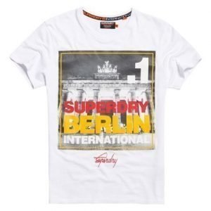Superdry Box Photo City Berlin T-paita Valkoinen
