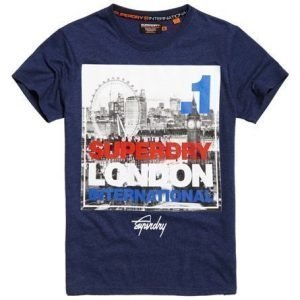 Superdry Box Photo City London T-paita Laivastonsininen