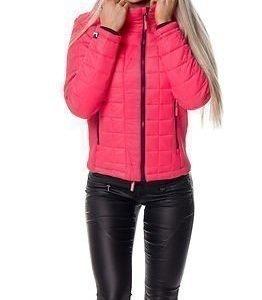 Superdry Box Quilt Jacket Flash Pink
