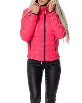 Superdry Box Quilt Jacket Flash Pink