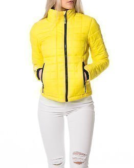 Superdry Box Quilted Fuji Jacket Solar Yellow