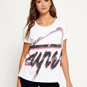 Superdry Boyfriend Mallinen 3d T-paita Valkoinen