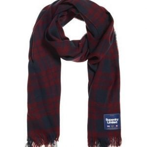 Superdry Capital Check Tassle Huivi Punainen