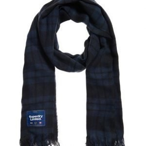 Superdry Capital Check Tassle Huivi Sininen