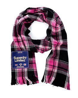 Superdry Capital Scarf Pink Check