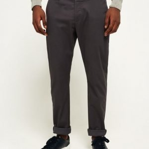 Superdry City Slim Chinohousut Tummanharmaa