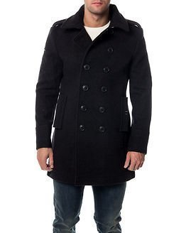 Superdry Classic Bridge Coat Dark Charcoal