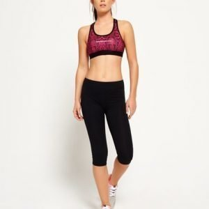 Superdry Core Gym Caprileggingsit Musta